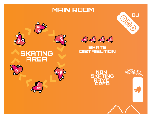 Example room layout with all features in one room